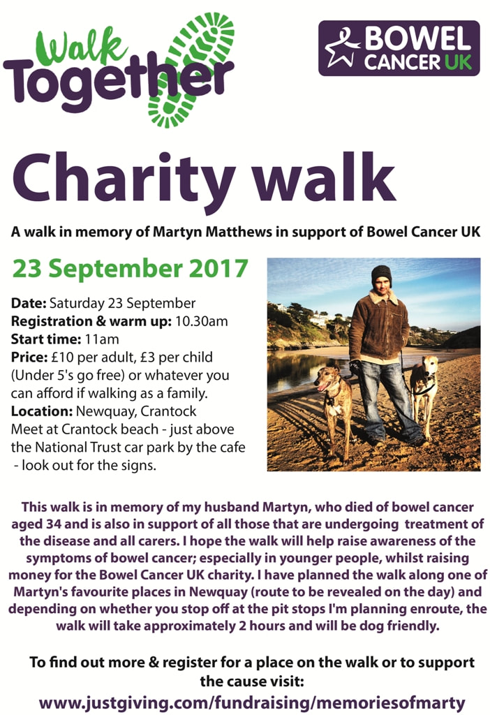 Charity walk poster